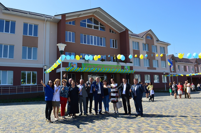 Opening a school in the village. Horbakiv